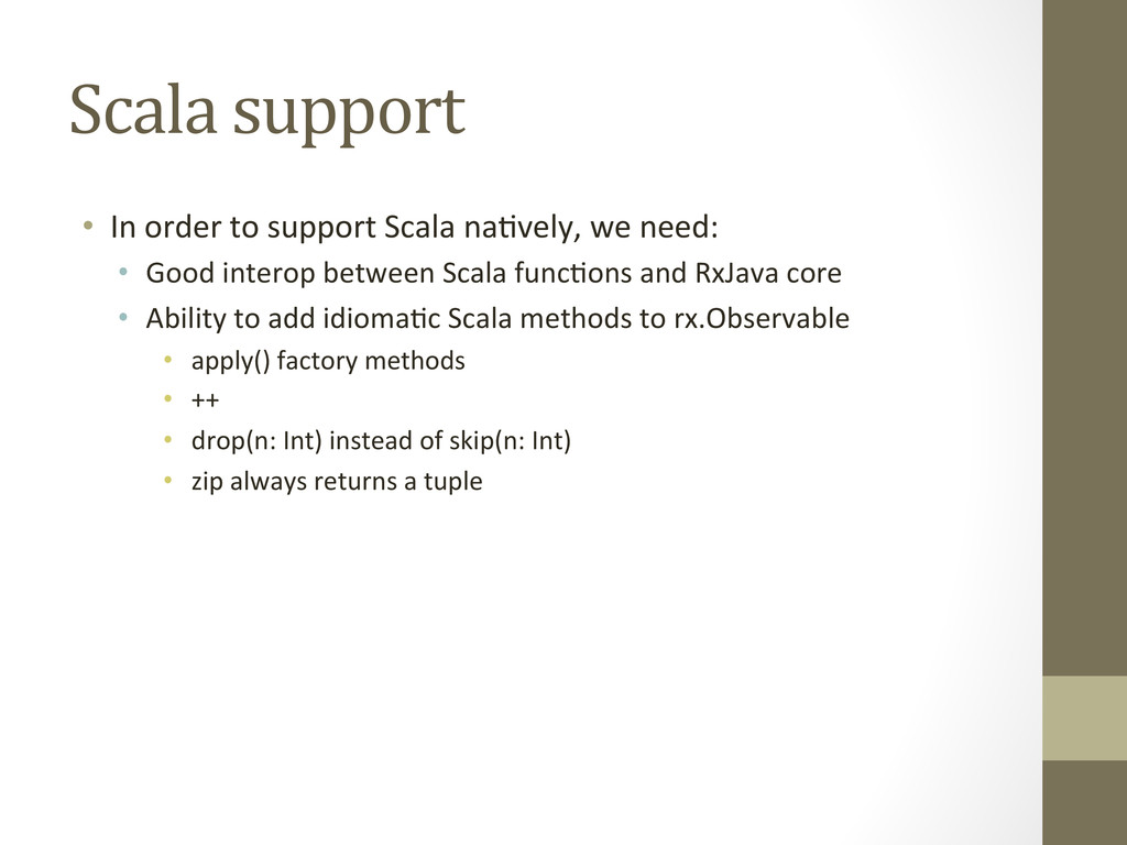 Scala support  • In order to su...