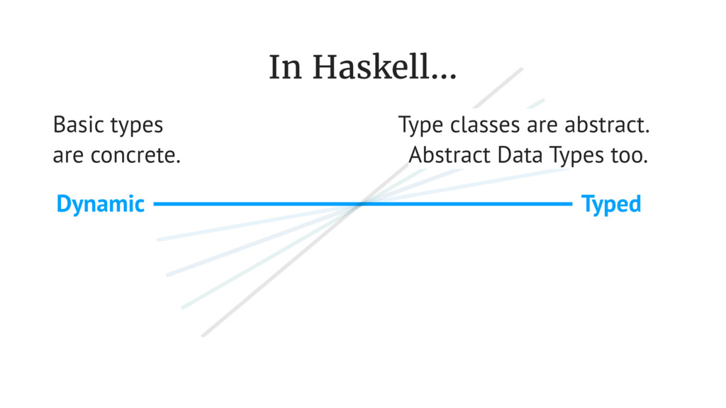 Typed Dynamic In Haskell... Basic types are con...