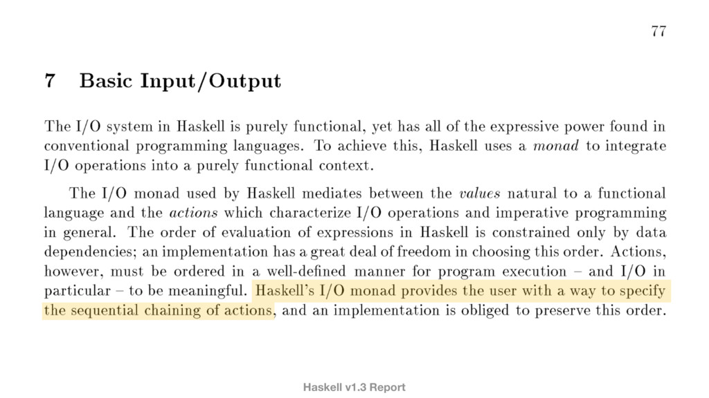 Haskell v1.3 Report