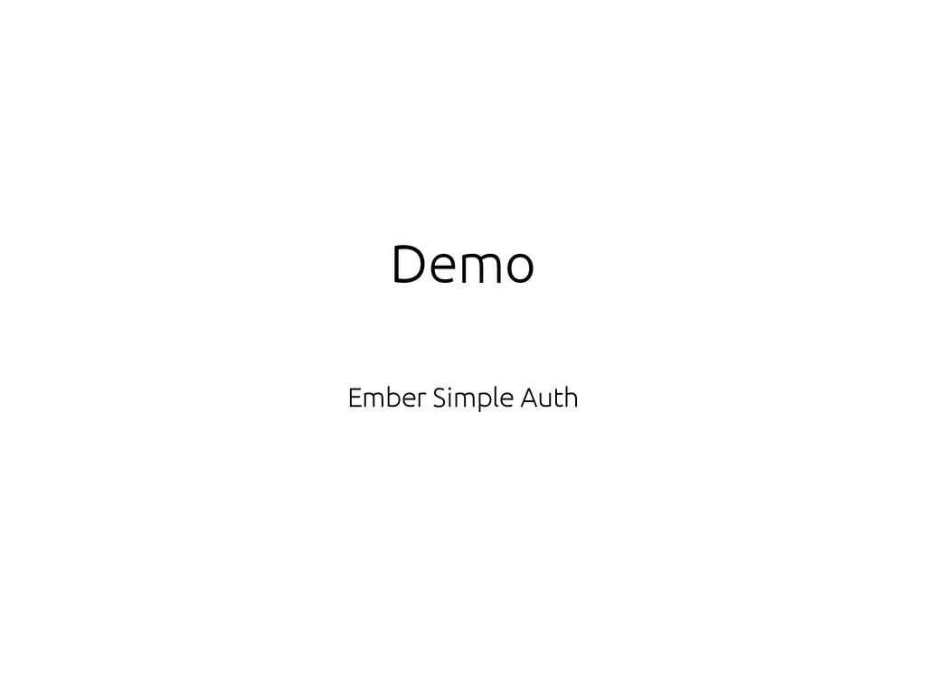 Demo Ember Simple Auth
