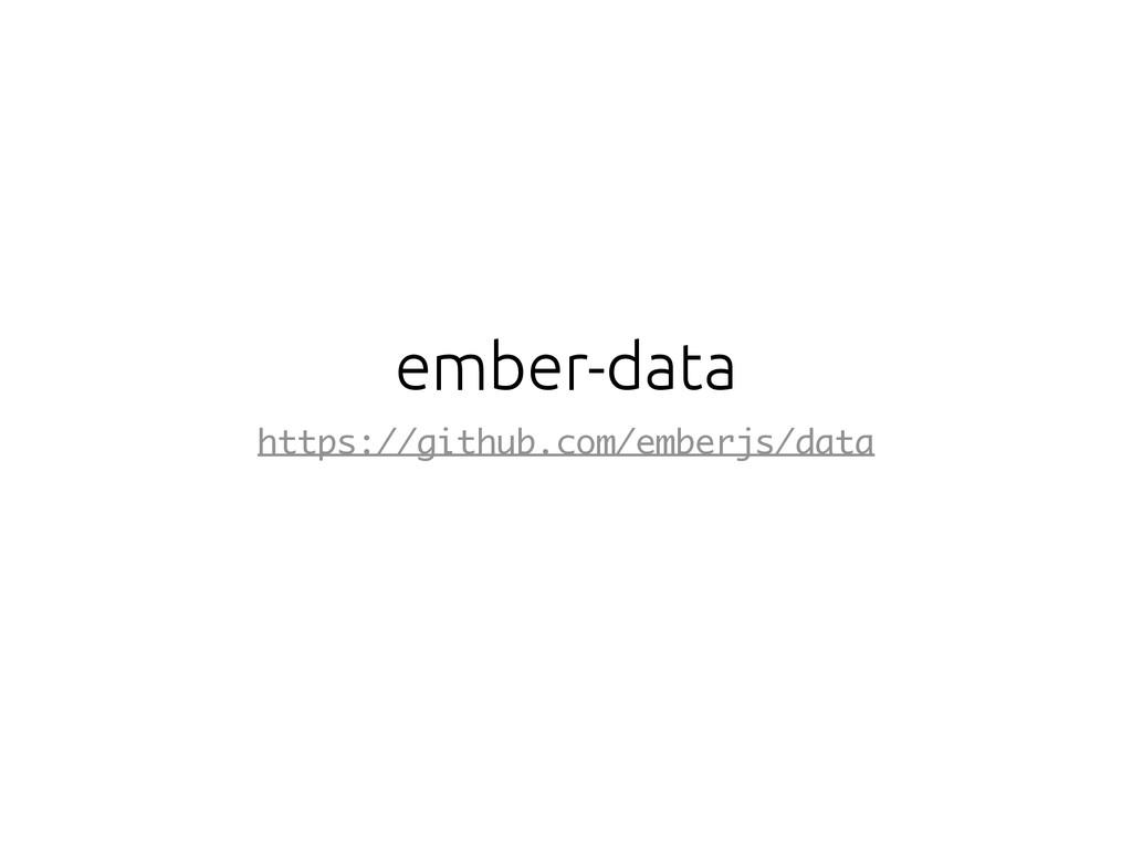 ember-data https://github.com/emberjs/data