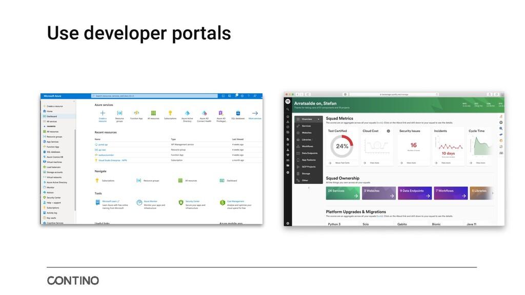 Use developer portals