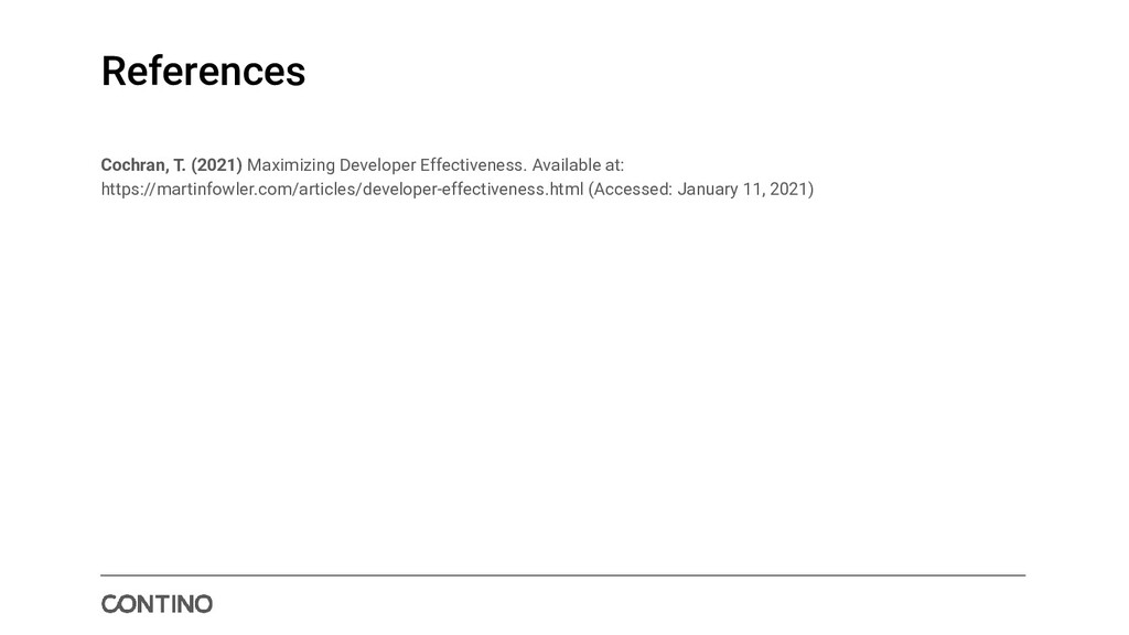 References Cochran, T. (2021) Maximizing Develo...