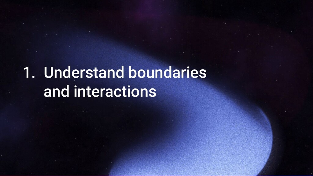 1. Understand boundaries and interactions