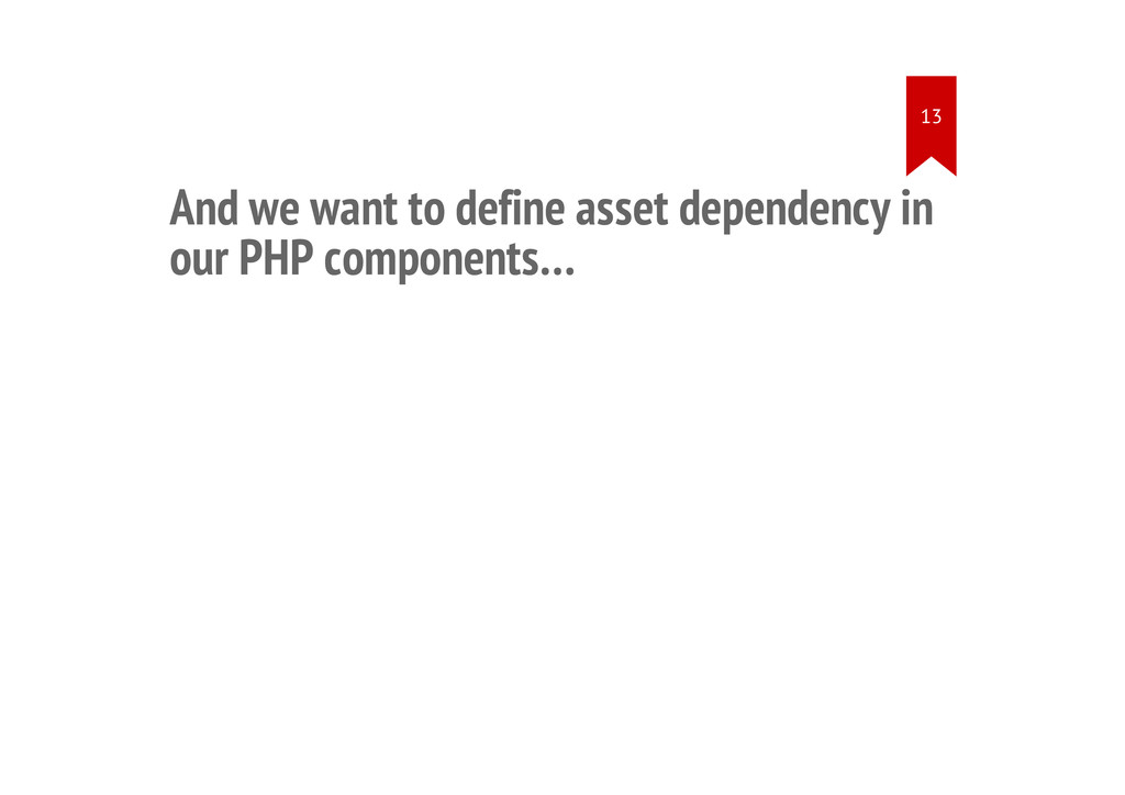 And we want to define asset dependency in our P...