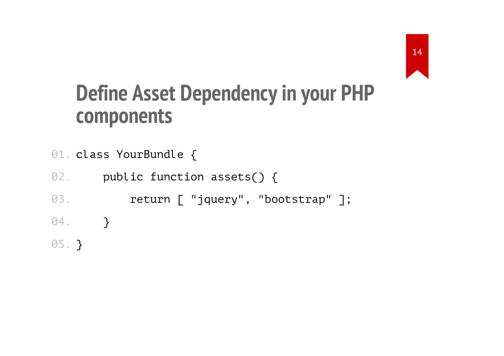 Define Asset Dependency in your PHP components ...