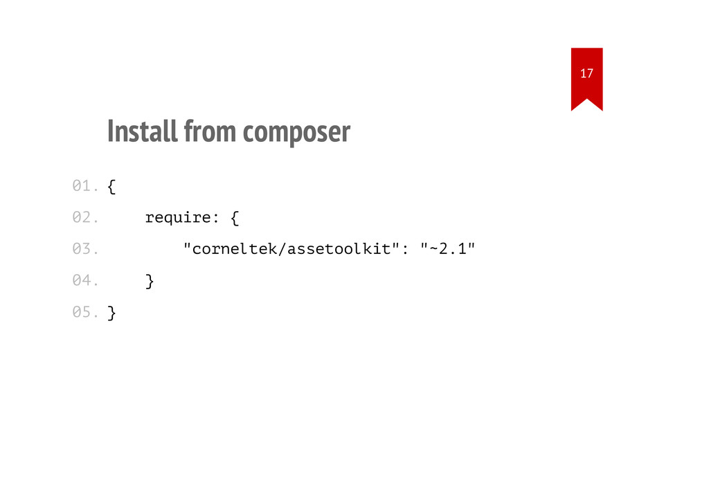 """Install from composer { require: { """"corneltek/a..."""