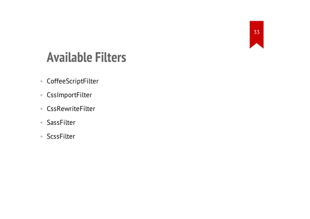 Available Filters • CoffeeScriptFilter • CssImp...