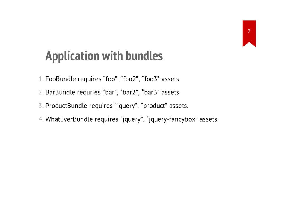Application with bundles 1. FooBundle requires ...