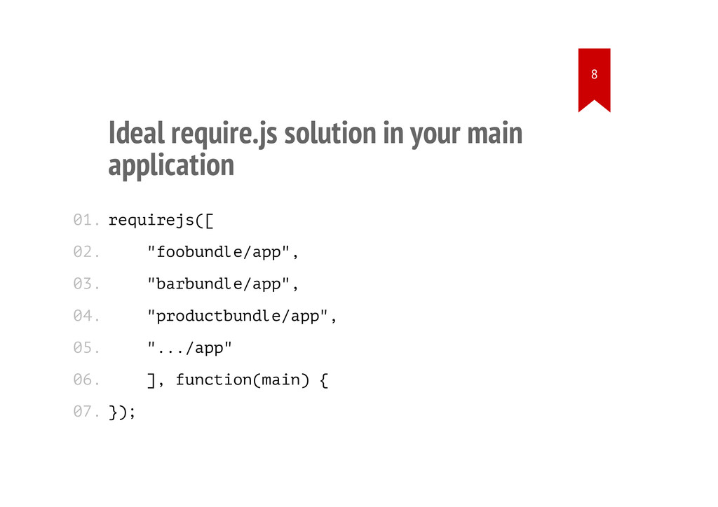 Ideal require.js solution in your main applicat...