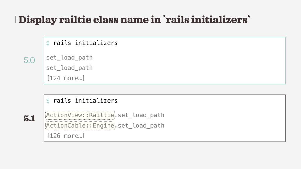 Display railtie class name in `rails initialize...