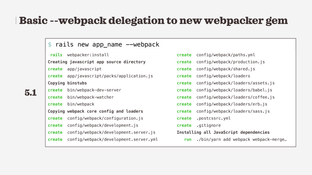 Basic --webpack delegation to new webpacker gem...