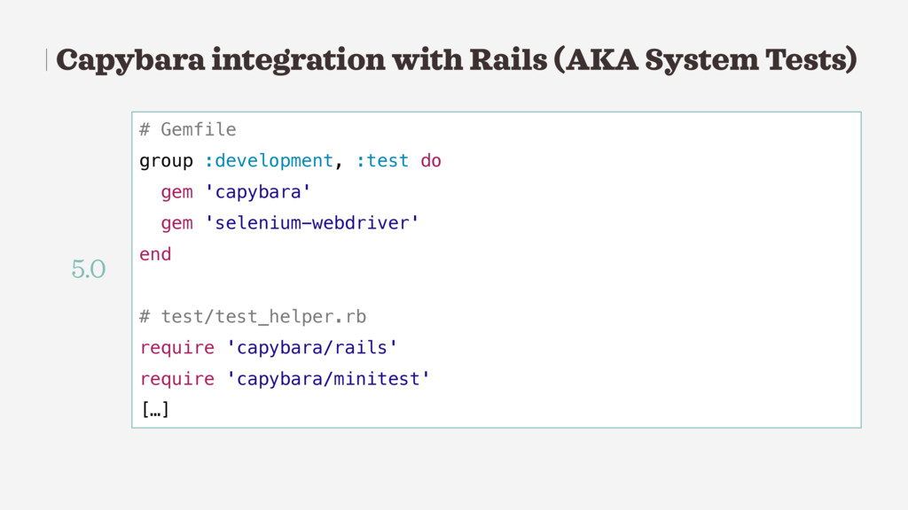 Capybara integration with Rails (AKA System Tes...