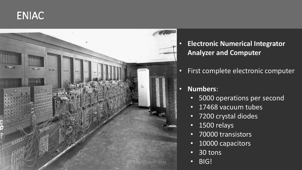 ENIAC • Electronic Numerical Integrator Analyze...