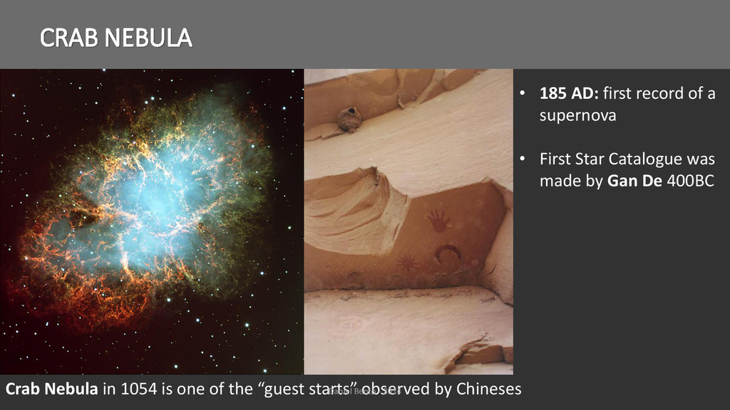 "CRAB NEBULA Crab Nebula in 1054 is one of the ""..."