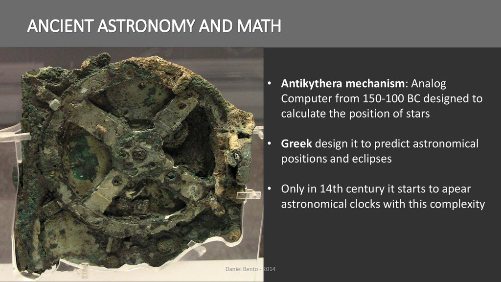 • Antikythera mechanism: Analog Computer from 1...