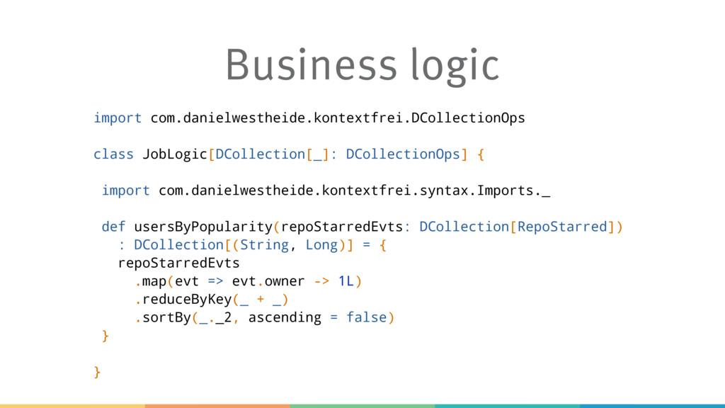 Business logic import com.danielwestheide.konte...
