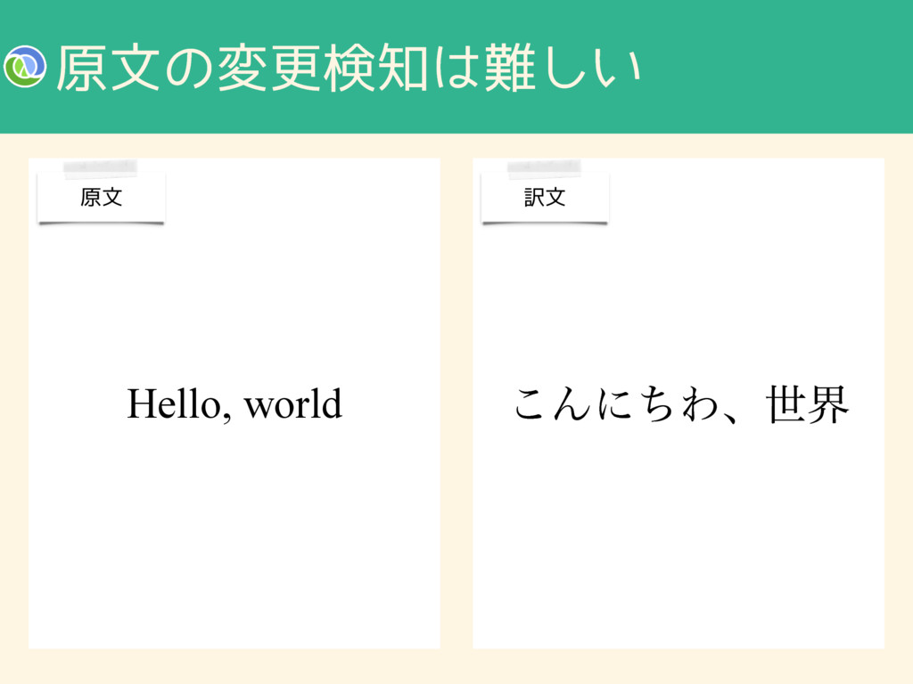 ݪจͷมߋݕ͍͠ ͜ΜʹͪΘɺੈք Hello, world ݪจ ༁จ