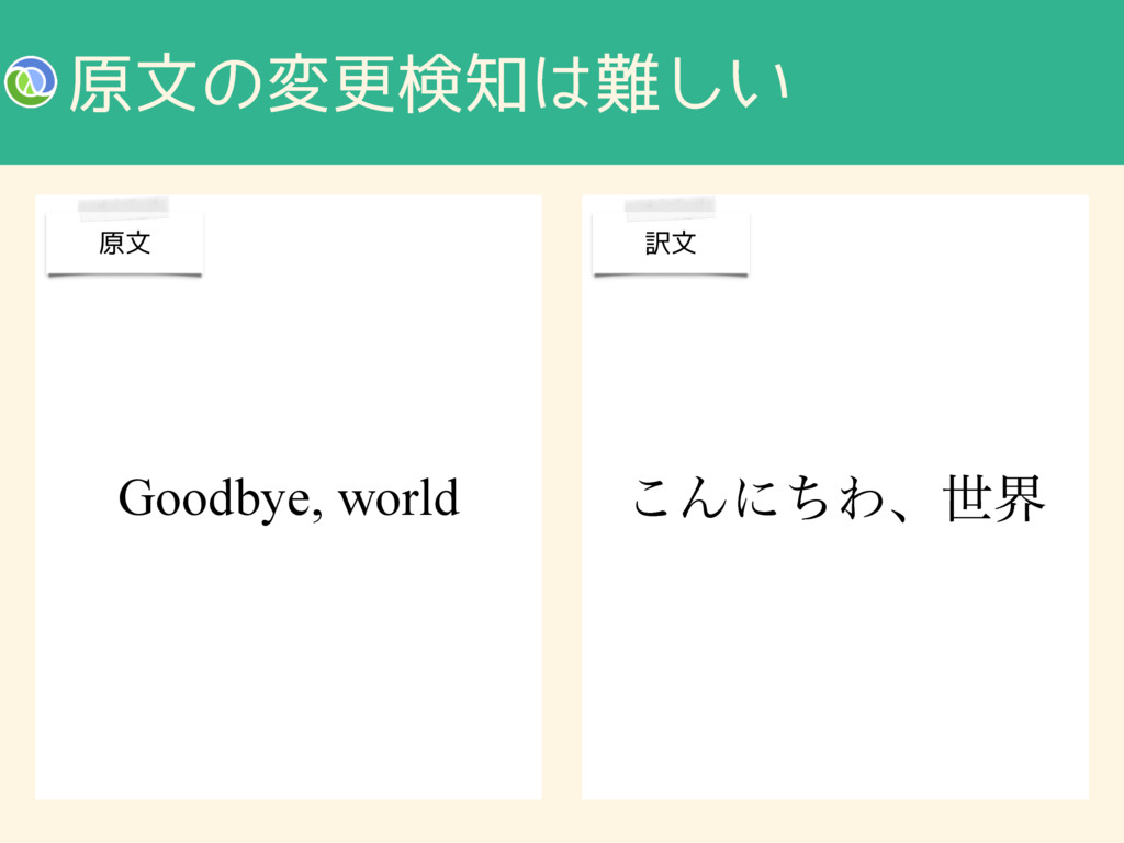 ݪจͷมߋݕ͍͠ ͜ΜʹͪΘɺੈք Goodbye, world ݪจ ༁จ