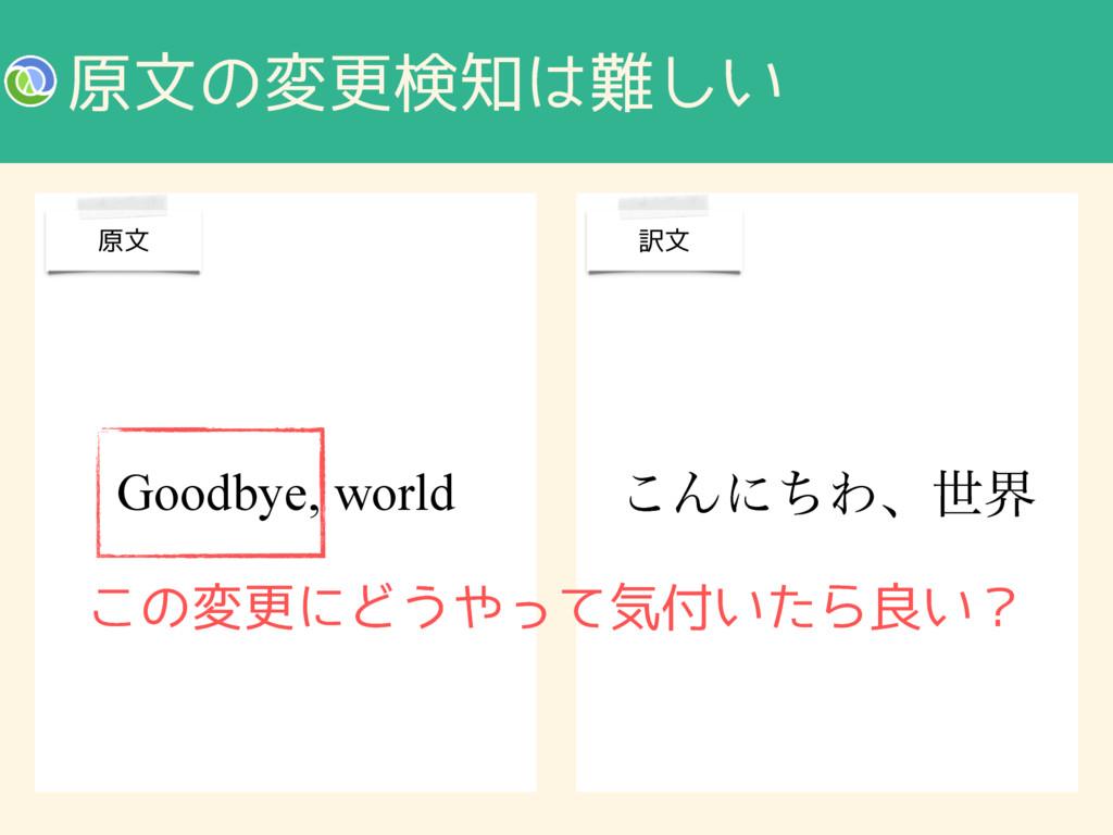 ݪจͷมߋݕ͍͠ ͜ΜʹͪΘɺੈք Goodbye, world ݪจ ༁จ ͜ͷมߋʹ...