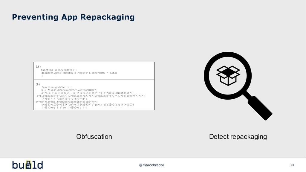 Preventing App Repackaging 23 Obfuscation Detec...