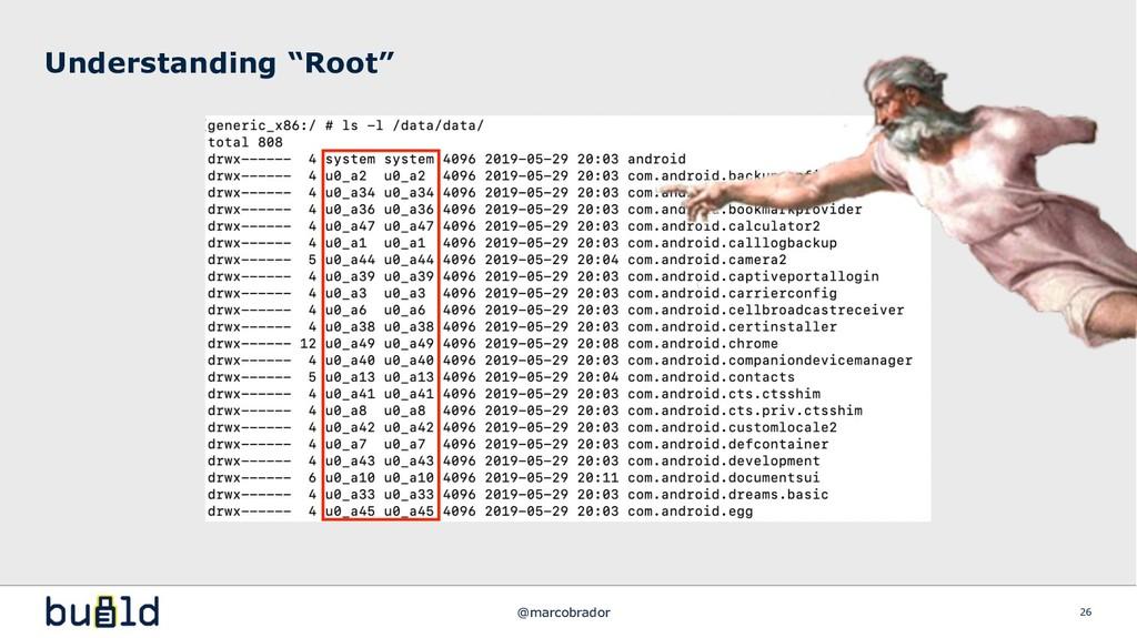 """Understanding """"Root"""" 26 @marcobrador"""