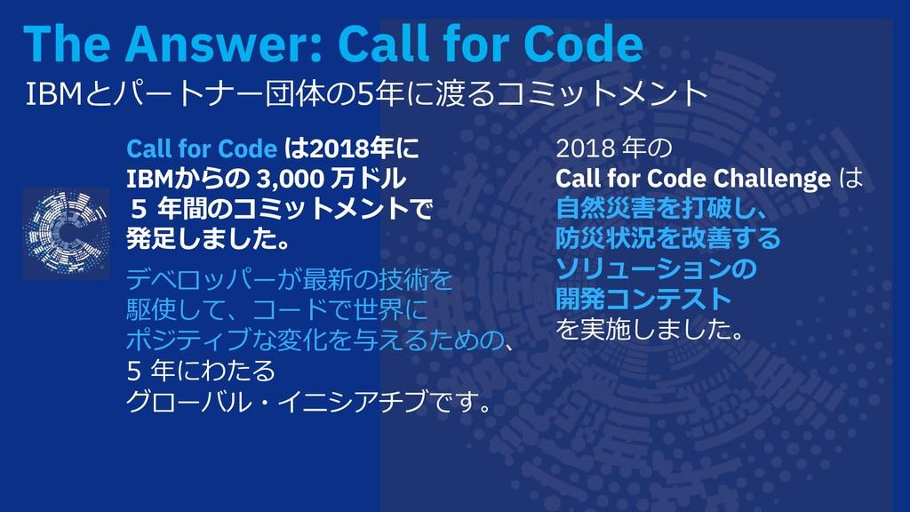 The Answer: Call for Code ;o hj á¶>ˆ=ĥIZydh...