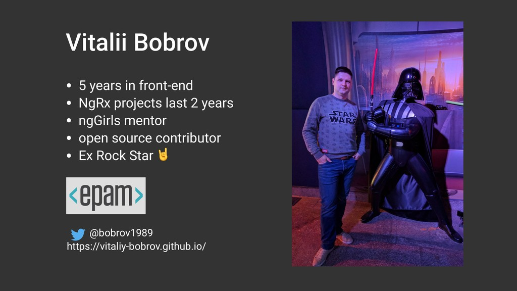 Vitalii Bobrov • 5 years in front-end • NgRx pr...
