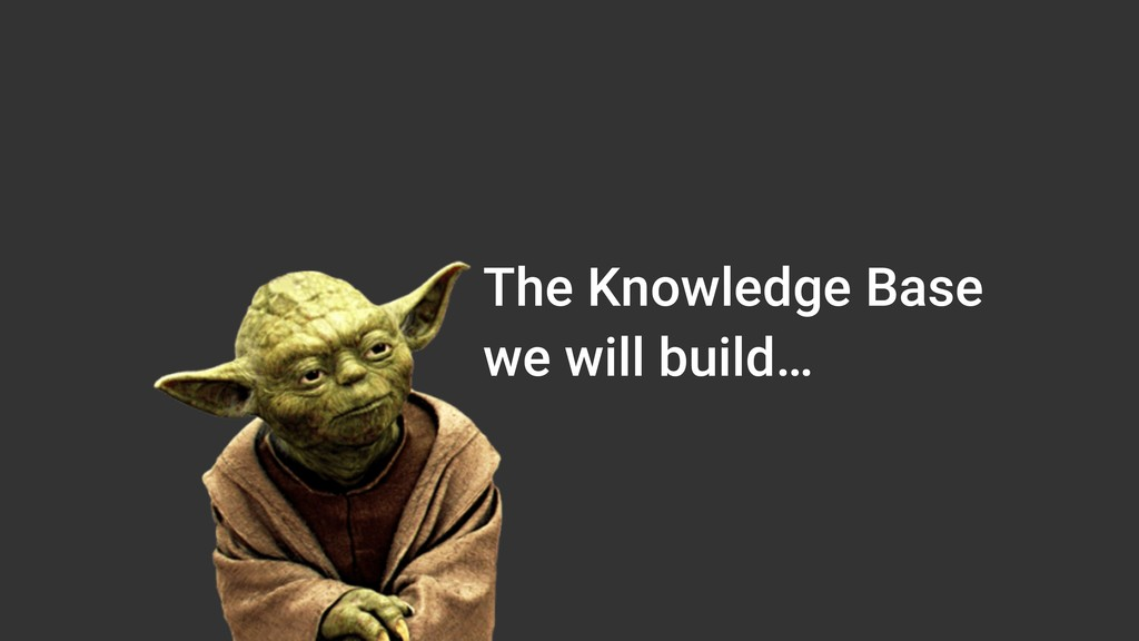 The Knowledge Base we will build…
