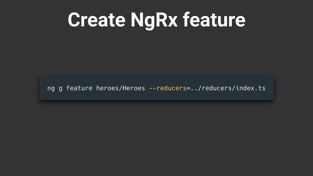 Create NgRx feature