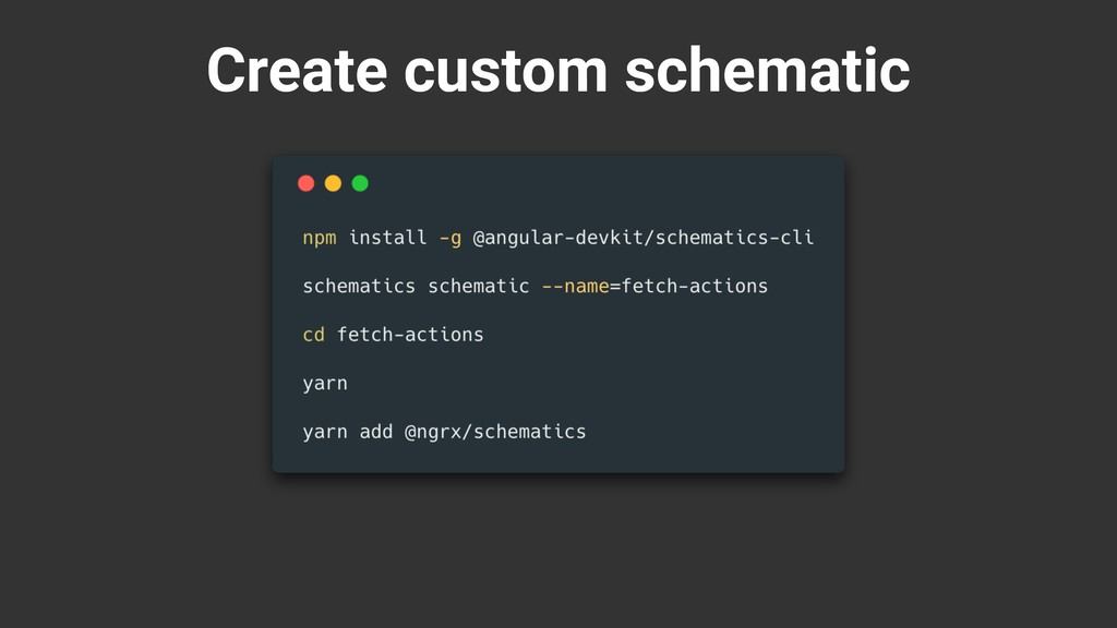 Create custom schematic