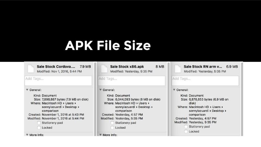 APK File Size