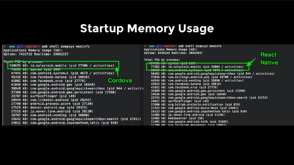 Startup Memory Usage