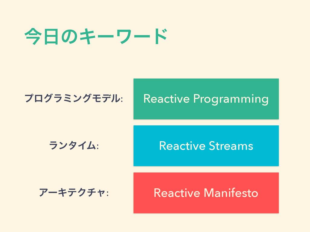 ࠓͷΩʔϫʔυ Reactive Manifesto Reactive Programmin...