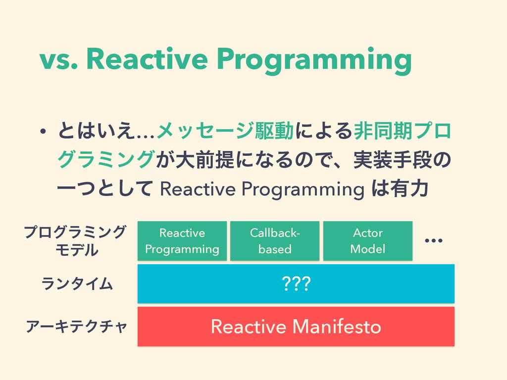 vs. Reactive Programming • ͱ͍͑…ϝοηʔδۦಈʹΑΔඇಉظϓϩ...