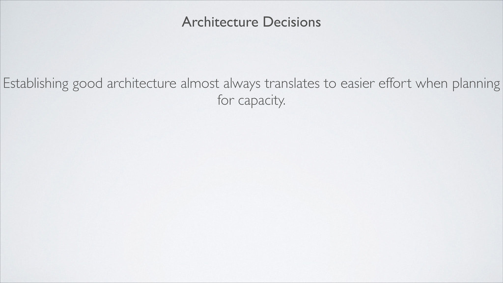 Establishing good architecture almost always tr...