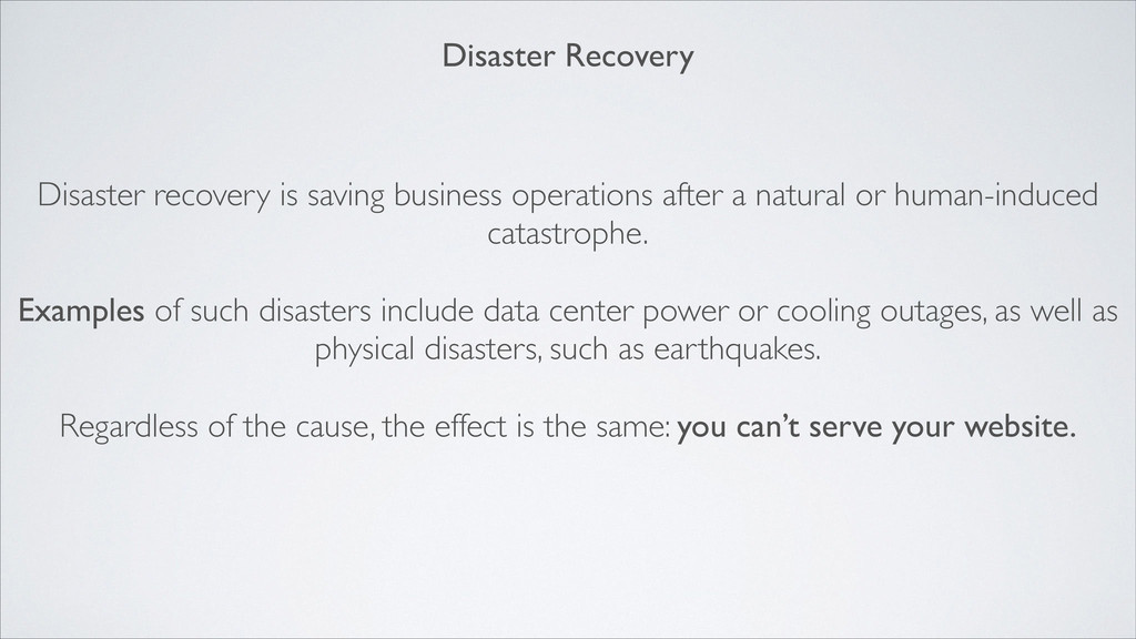Disaster recovery is saving business operations...