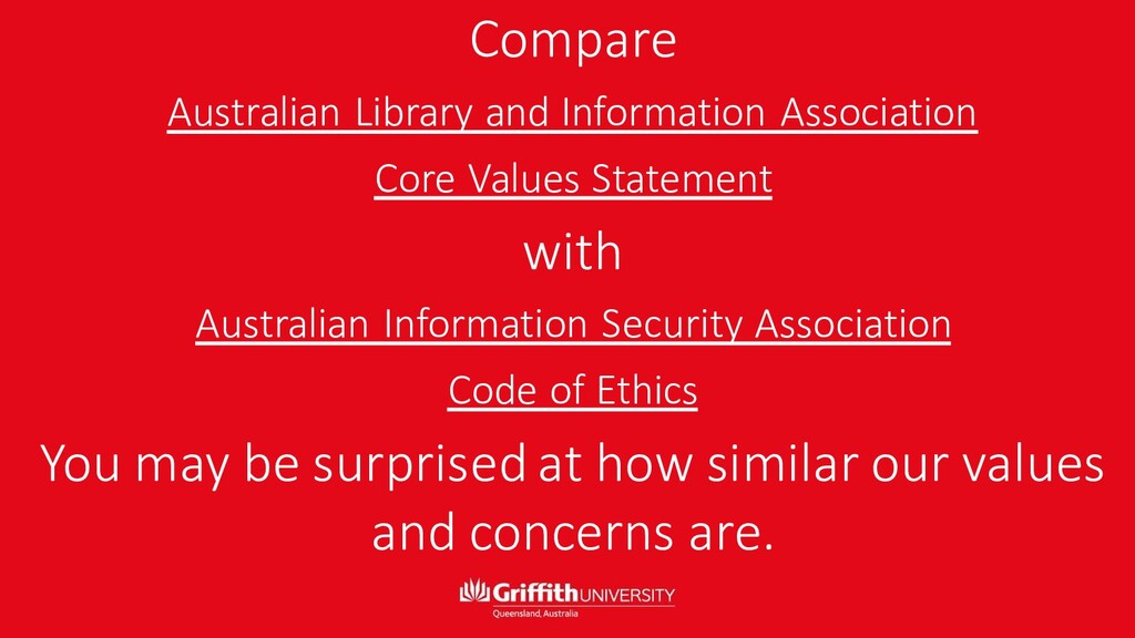 Compare Australian Library and Information Asso...