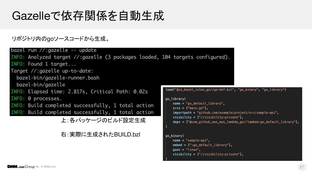 © DMM.com Gazelleで依存関係を自動生成 リポジトリ内のgoソースコードから生成...