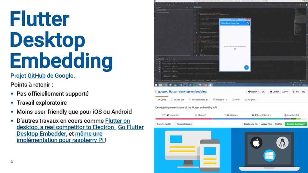 3 Flutter Desktop Embedding Projet GitHub de Go...