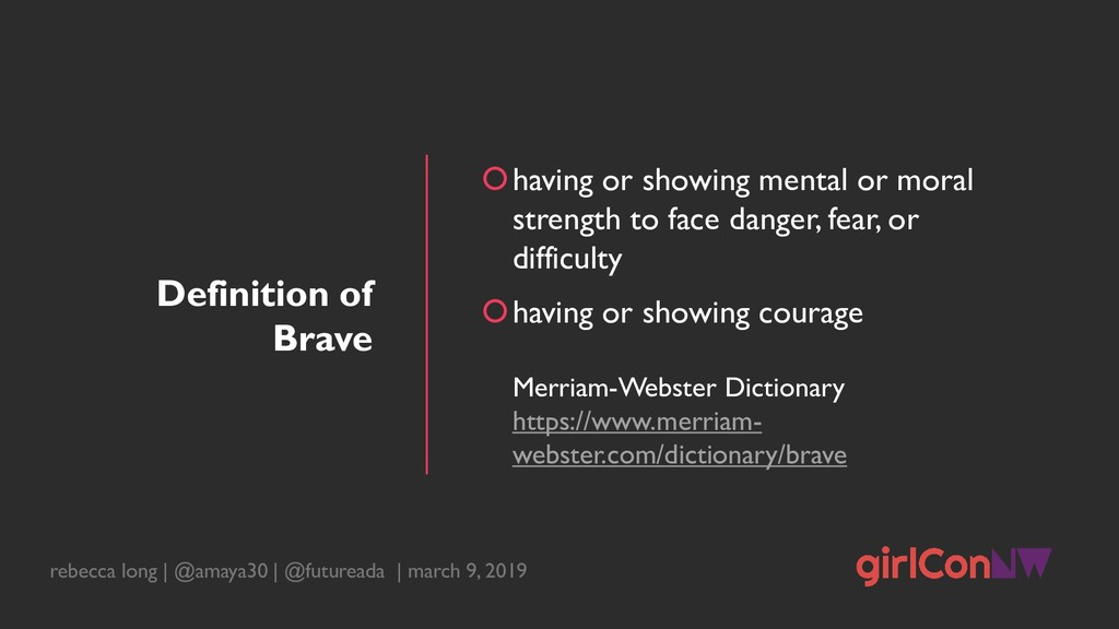 Definition of Brave having or showing mental o...