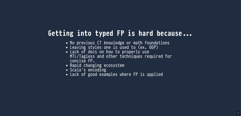 Getting into typed FP is hard because No previo...