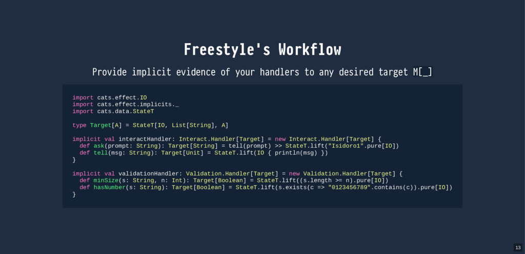 Freestyle's Workflow Provide implicit evidence ...