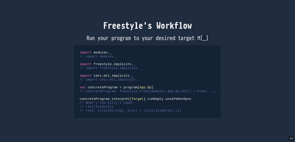 Freestyle's Workflow Run your program to your d...