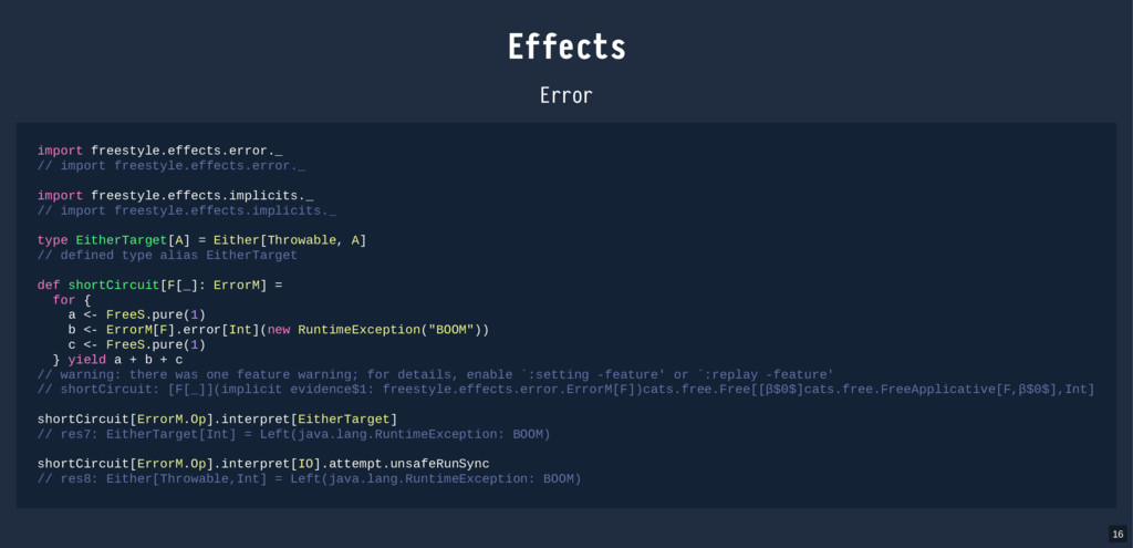 Effects Error import freestyle.effects.error._ ...