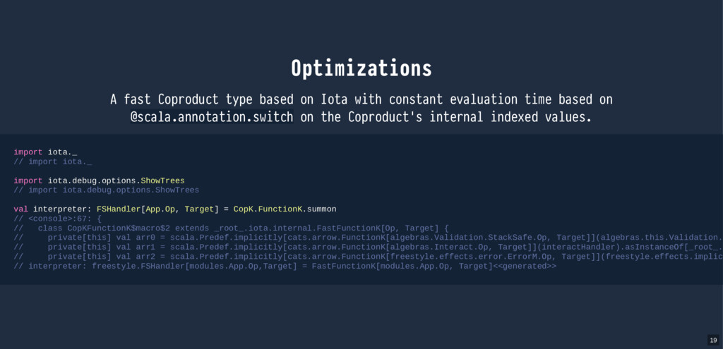 Optimizations with constant evaluation time bas...