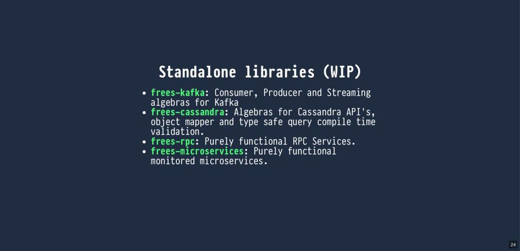 Standalone libraries (WIP) frees-kafka: Consume...
