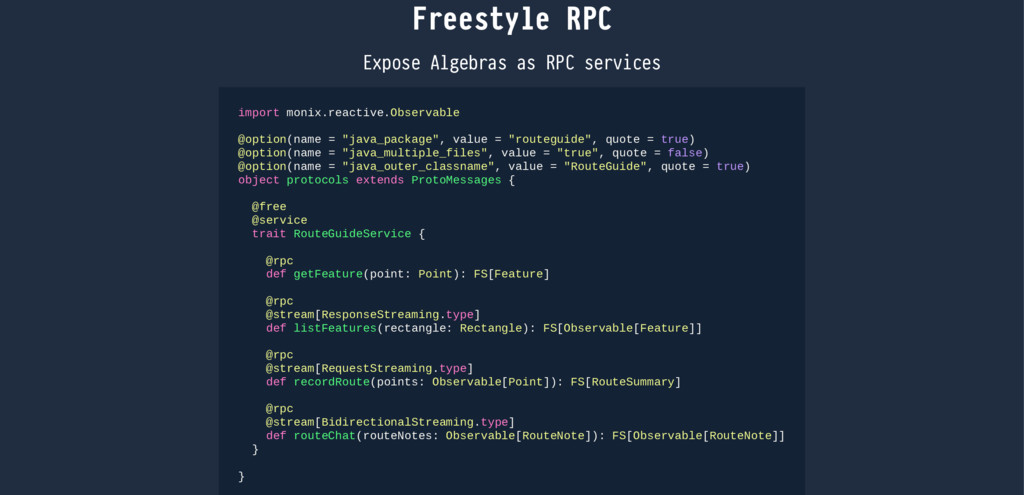 Freestyle RPC Expose Algebras as RPC services i...