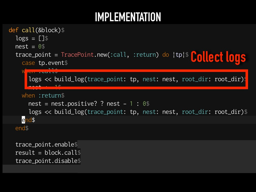 IMPLEMENTATION Collect logs