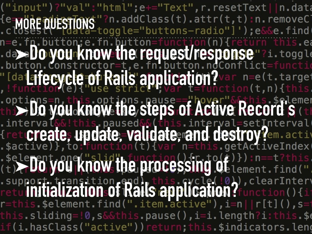 MORE QUESTIONS ➤Do you know the request/respons...